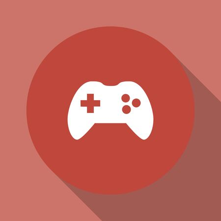 joy pad: Game controller icon. Flat design style eps 10
