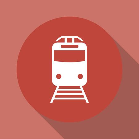 high speed railway: Train icon, isolated vector eps 10 illustration