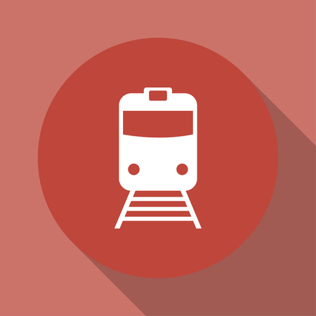 locomotion: Train icon, isolated vector eps 10 illustration