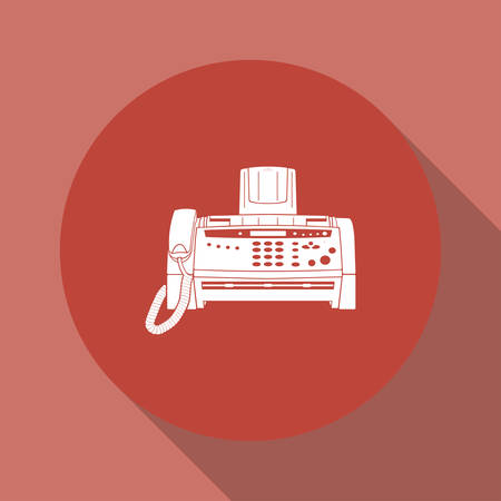 fax machine: Fax machine icon, vector eps 10 illustration