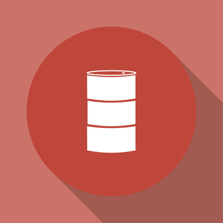 steel drum: Simple icon barrels of oil. Flat design style.