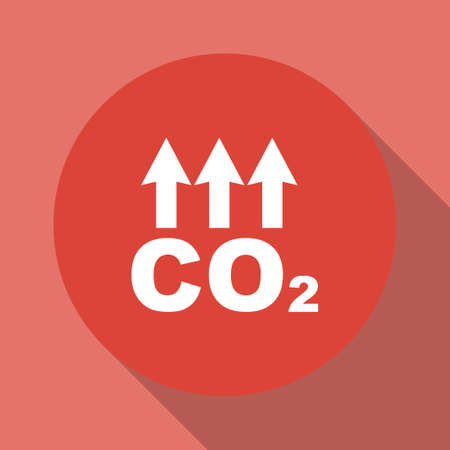 co2: Chemistry sign. CO2 carbon dioxide icon. Flat