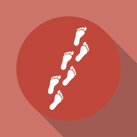 Feet prints. Flat design style eps 10