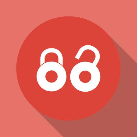secret codes: lock icon. Flat design style eps 10