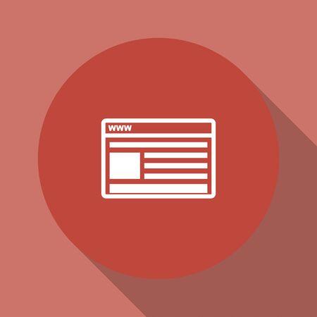 meta analysis: vector mockup of web design icon. Flat