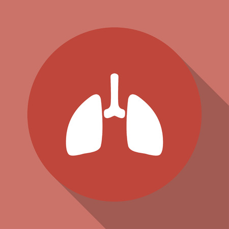 bronchiole: lungs icon. Flat design style eps 10