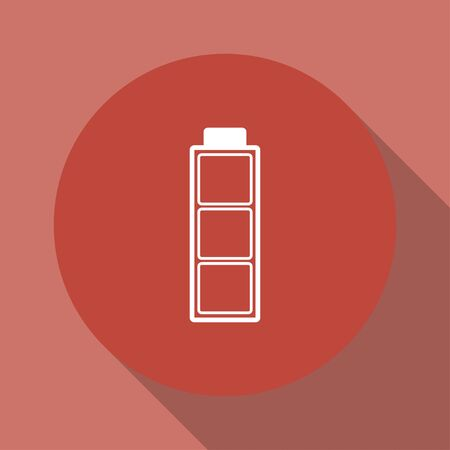 cadmium: Battery icon. Flat design style eps 10