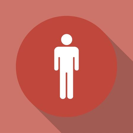 gent's: Man - vector icon. Flat design style EPS