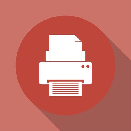 ink jet: Print icon. Flat design style eps 10