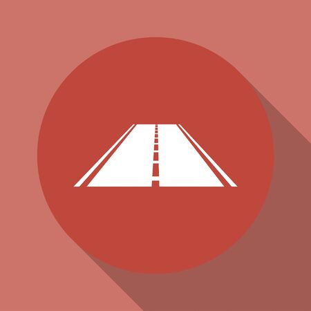 bitumen: Road icon. Flat design style eps 10 Illustration