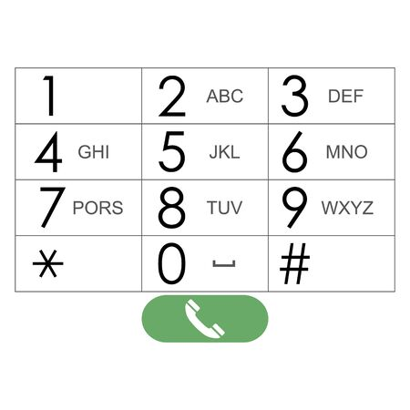 dial pad: vector flat keypad for phone. Vector EPS