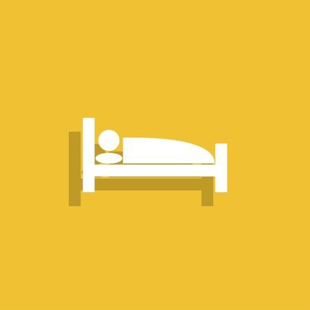 Sleeping symbol icon. Flat design style eps 10