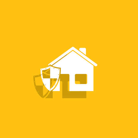 guard house: house shield  icon. Illustration
