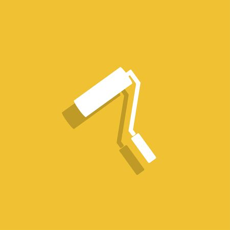 paint roller: Paint roller icon. Illustration