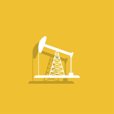 fracking: Oil Rig Icon.