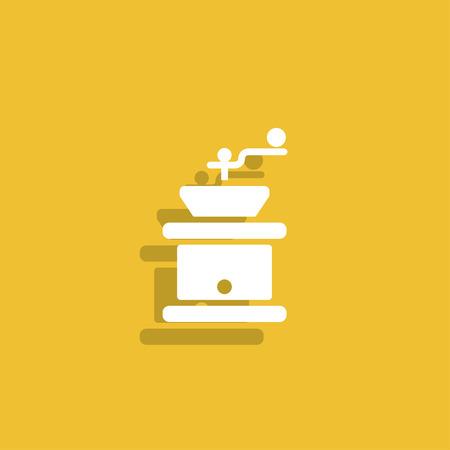 grinder: Coffee grinder. Illustration
