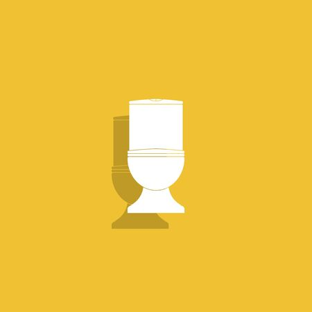 bidet: Toilet icon. Illustration
