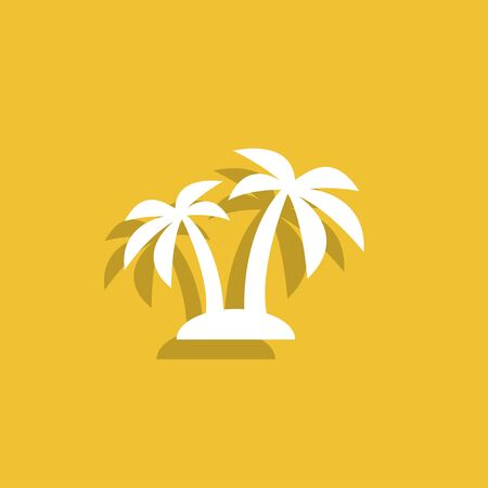 summer holidays: palm icon.