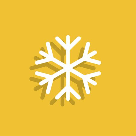 lightweight ornaments: Snowflake flat icon. Illustration