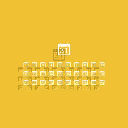 calendar icon: Flat vector calendar icon. Illustration