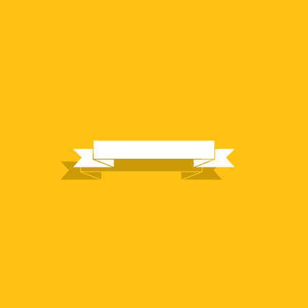 message icon: The banner icon. Flat ribbon icon. Flat Vector illustration.