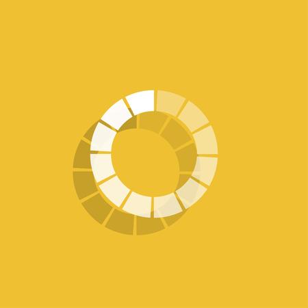 Vector circular loading icon.