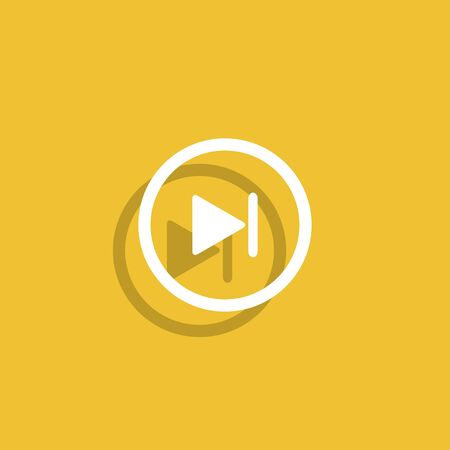 multimedia: Glossy multimedia icon  next track vector