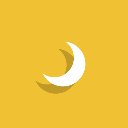 afterglow: moon vector icon