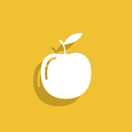 ripened: apple - vector icon.