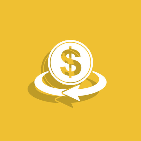 refresh rate: money convert icon. Illustration