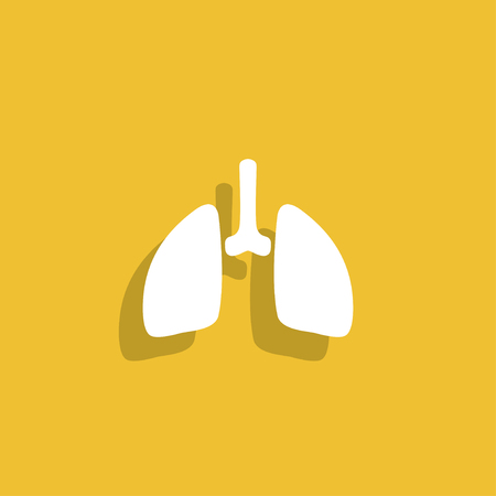 respire: lungs icon. Illustration