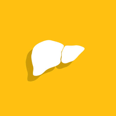 hepatology: Vector flat liver icon. Illustration
