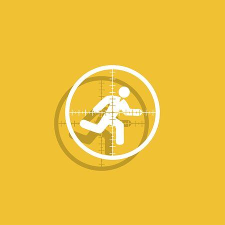 sight: Sight device icon. Illustration