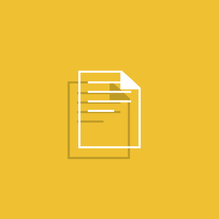 web page elements: document icon paper sheet vector. flat design. Illustration