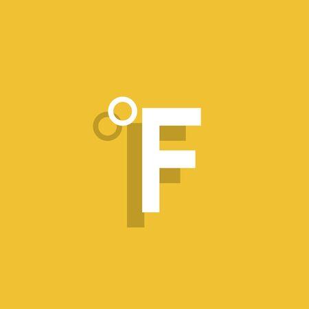 fahrenheit: Vector icon Fahrenheit. Illustration