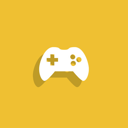 joypad: Game controller icon. Illustration