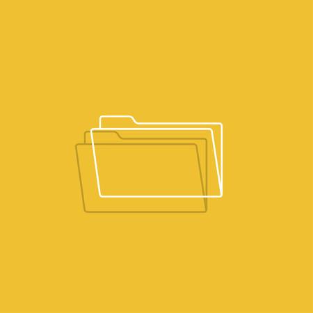 web: folder flat web icon. Illustration