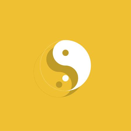 karma design: Yin Yang Symbol - Black and White Vector Illustration