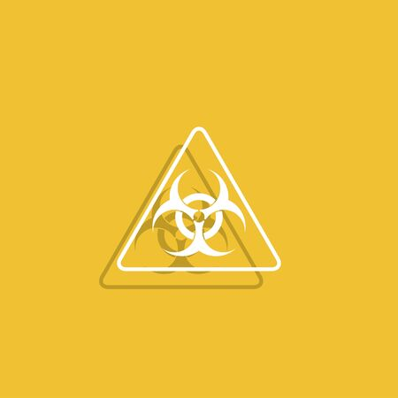 hazardous waste: Vector biohazard sign or icon, flat Illustration