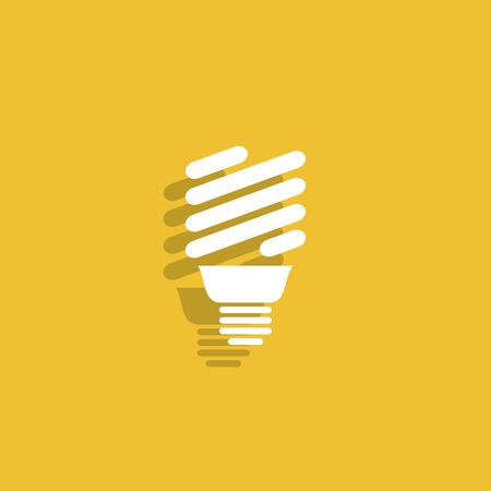 energy saving: Vector energy saving fluorescent light bulb icon.