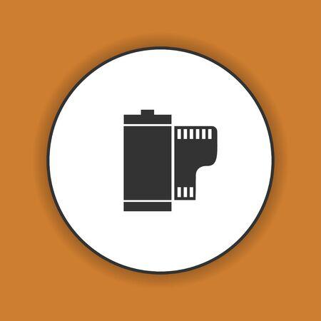 camera film: Flat Camera Film Roll. Vector EPS 10