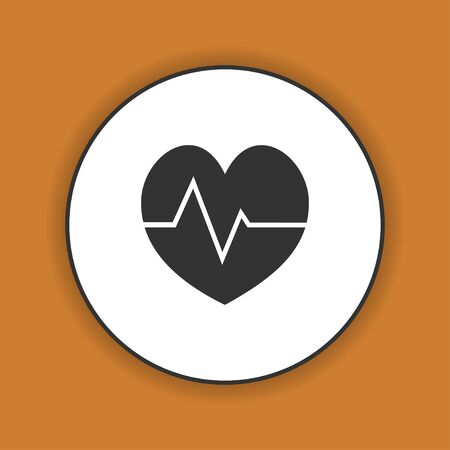 eps vector icon: heart icon, Flat vector illustration. EPS 10