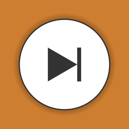 multimedia icon: Glossy multimedia icon  next track vector EPS Illustration