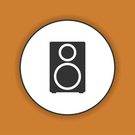 sub woofer: column - vector icon Flat design style eps 10 Illustration