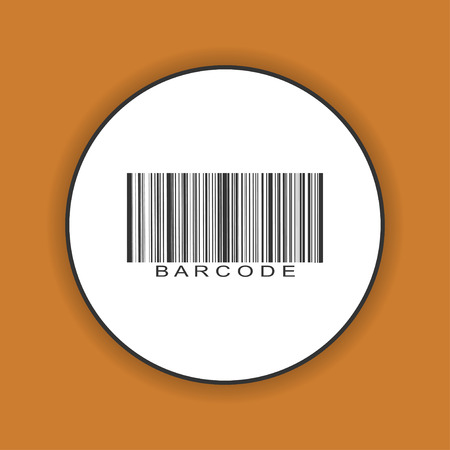 barcode icon vector illustration flat design style eps 10 royalty