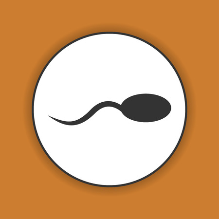 animal sex: Sperm icon. Flat design style eps 10