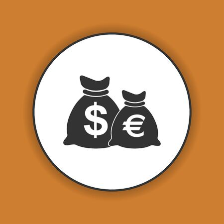 eps vector icon: Money bag icon. Vector illustration EPS 10 Illustration
