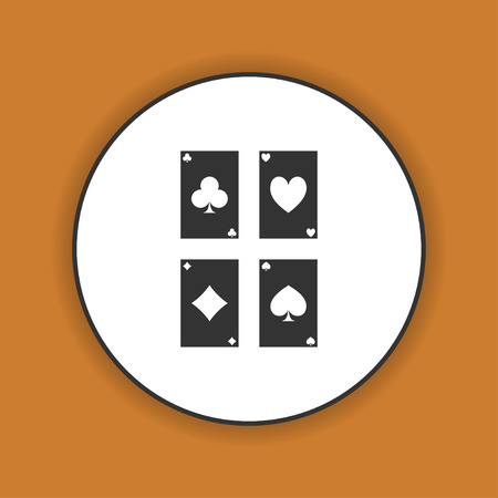 bad fortune: playing cards icon. Flat design style eps 10
