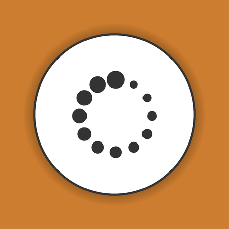 pre loader: Vector circular loading icon. Flat design style eps 10