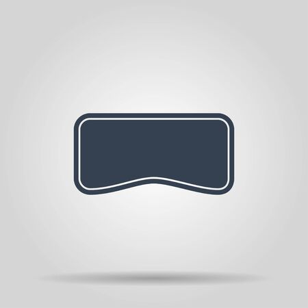 editorial design: Virtual reality gaming and entertainment headset icon Illustration